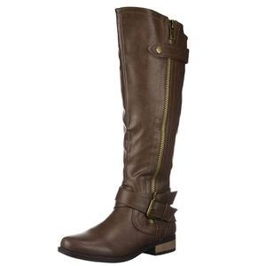 Rampage Hansel Zipper and Buckle Knee-High Riding